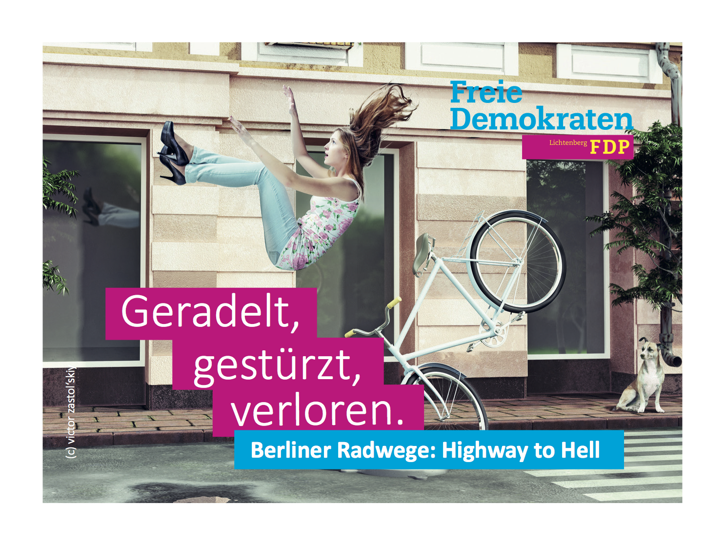 FDP Postkarte Radwege