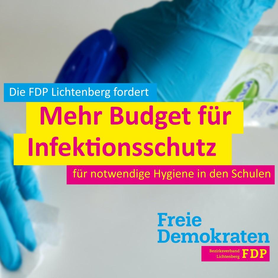 Zusätzliches Budget für Infektionsschutz an Schulen notwendig