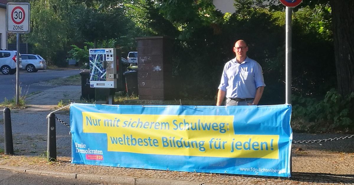 In Lichtenberg fehlen sichere Schulwege