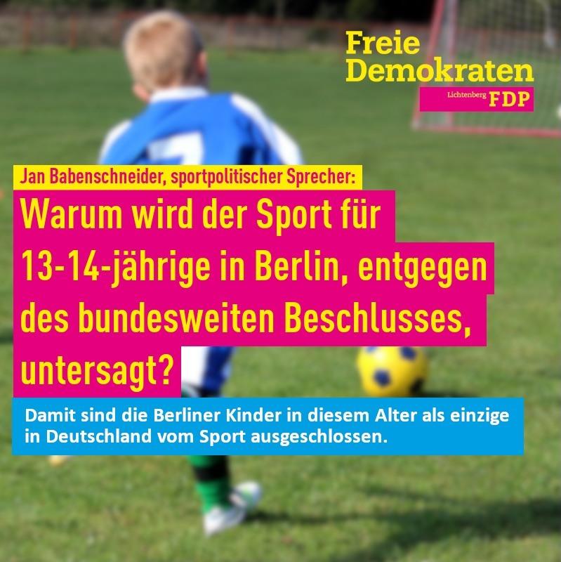 Auch Berliner Kindern Sport ermöglichen