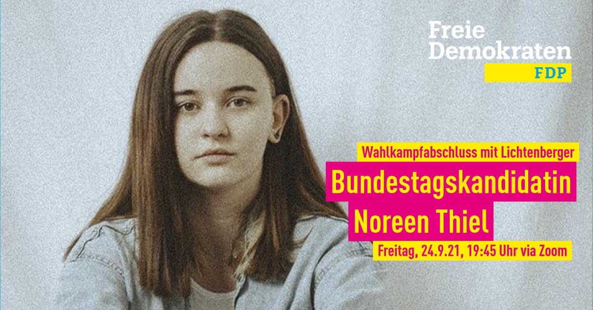 Wahlkampfabschluss mit unserer Bundestagskandidatin Noreen Thiel